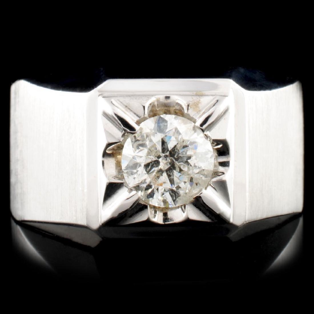 14K White Gold 0.90ct Diamond Ring