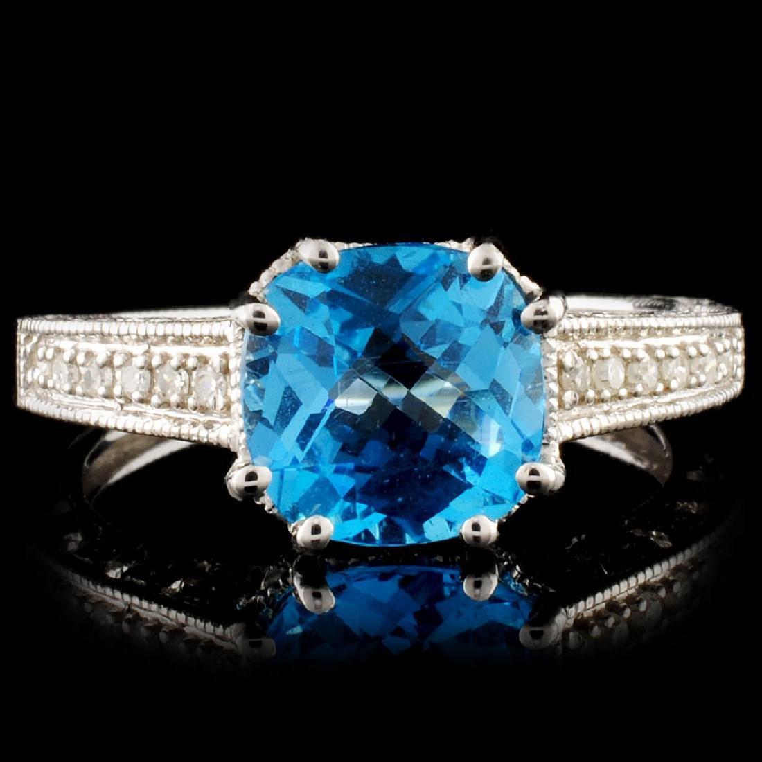 14K Gold 2.00ct Topaz & 0.70ctw Diamond Ring