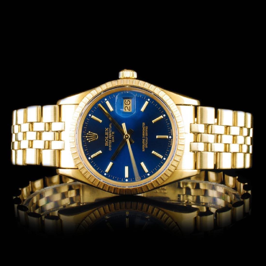 Rolex Oyster-Date Yellow Gold 34mm Wristwatch