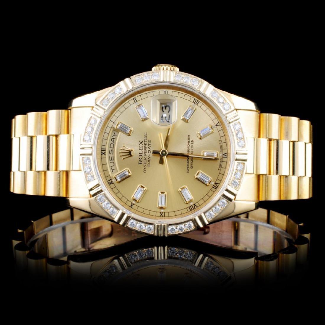 Rolex 18K Day-Date Diamond Gents Wristwatc