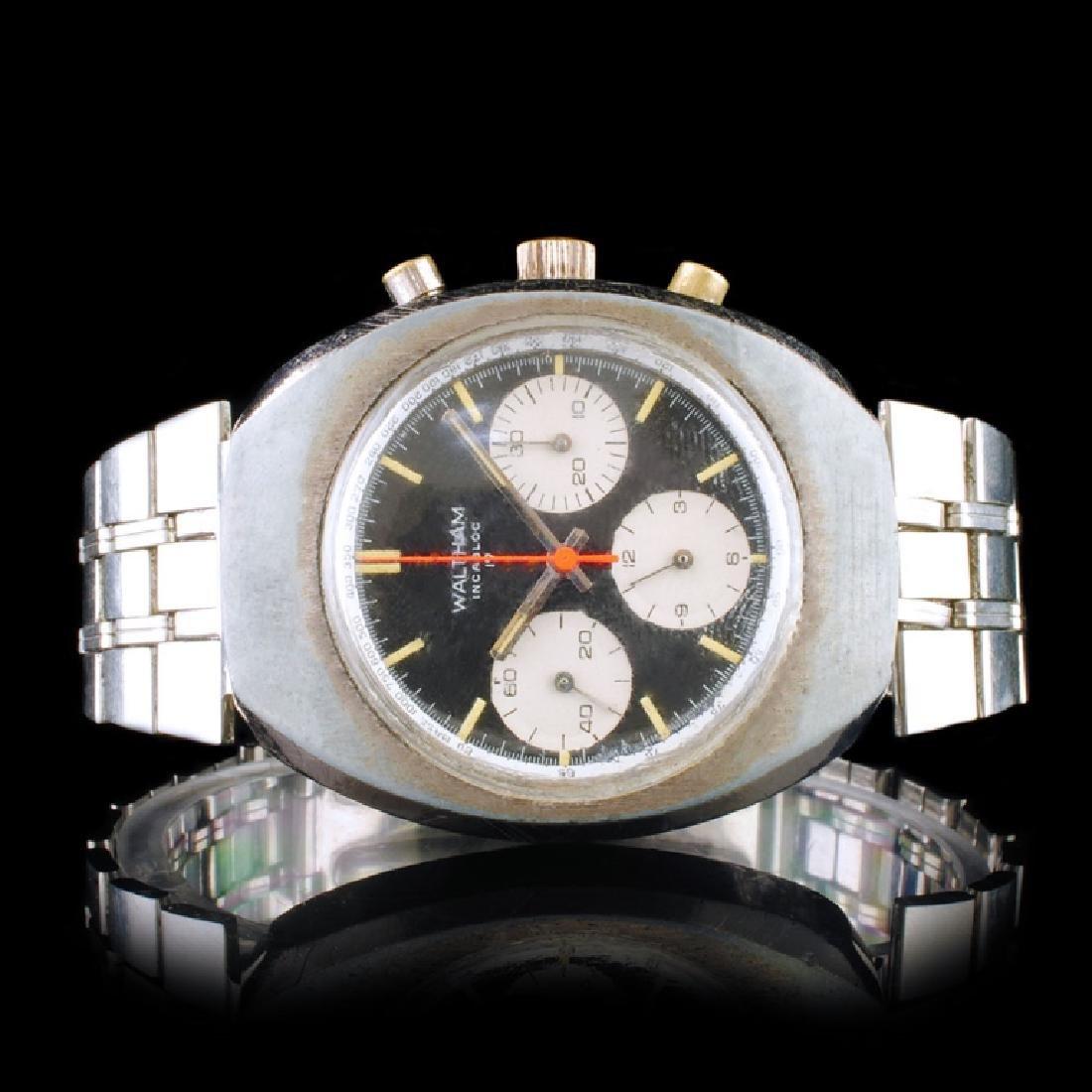 WALTHAM Swiss 17-Jewel Chronograph 40mm Watch
