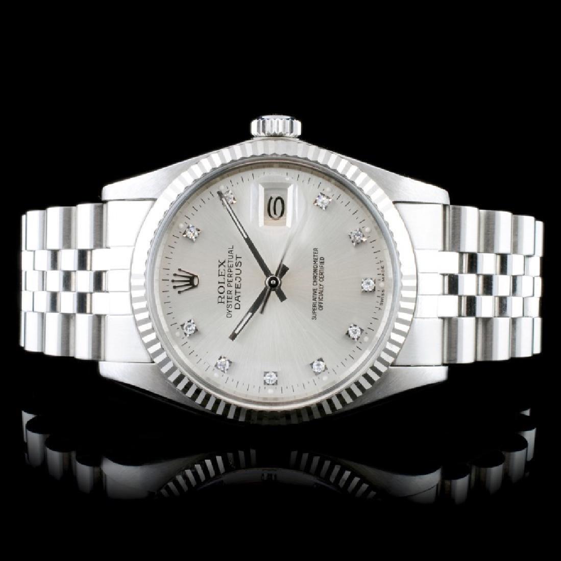 Rolex DateJust 18K/SS Diamond 36mm Wristwatch