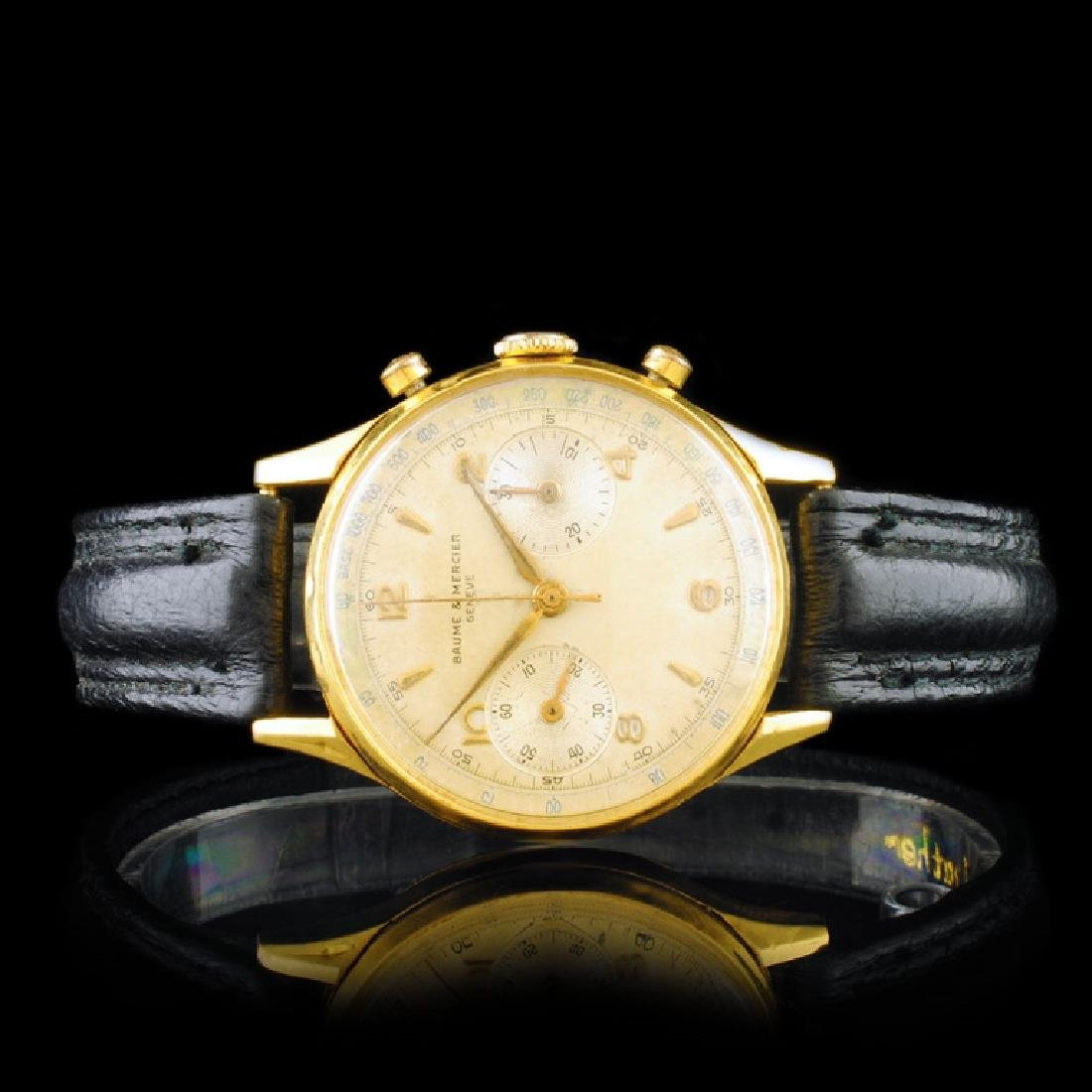 Baume & Mercier 18K Gold Chrono 36mm Wristwatch