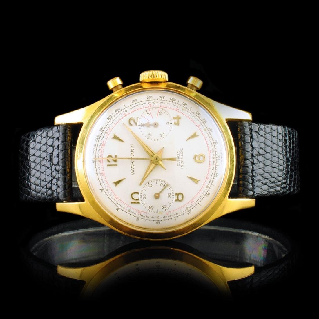 WAKMANN Suisse 36mm Chrongraph Wristwatch
