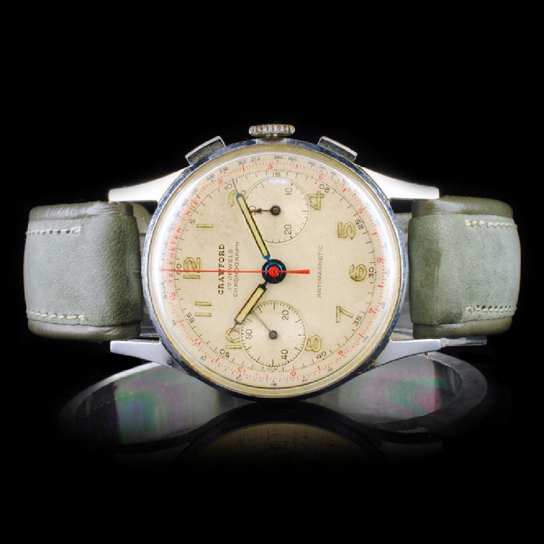 CRAWFORD Swiss 17-Jewel 34mm Chronograph
