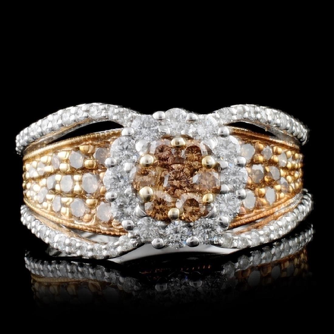 14K White Gold 2.82ctw Fancy Color Diamond Ring