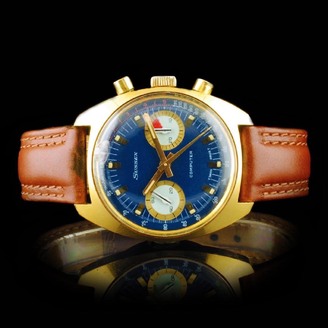 "SUSSEX ""Computer"" 36mm Chronograph Wristwatch"