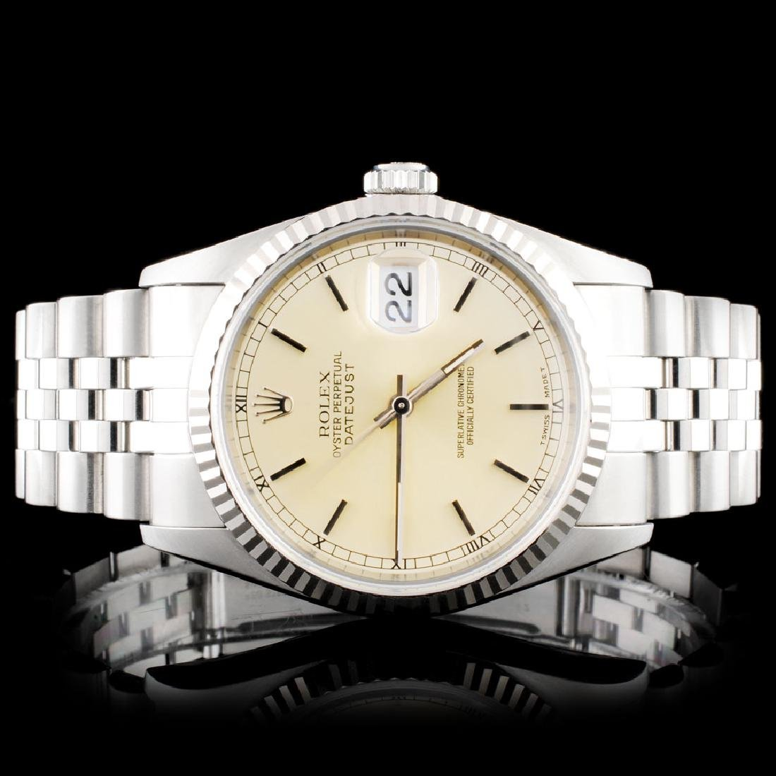 Rolex SS Oyster DateJust Wristwatch