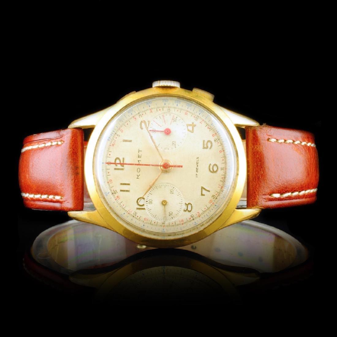 Komet Swiss 17-Jewel Chronograph 36mm Watch
