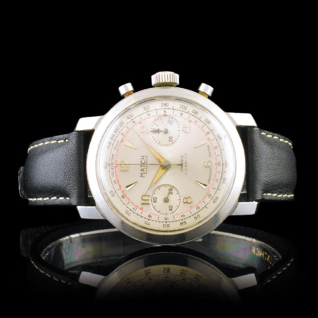 MATCH Suisse Stainless Steel 36mm Chronograph