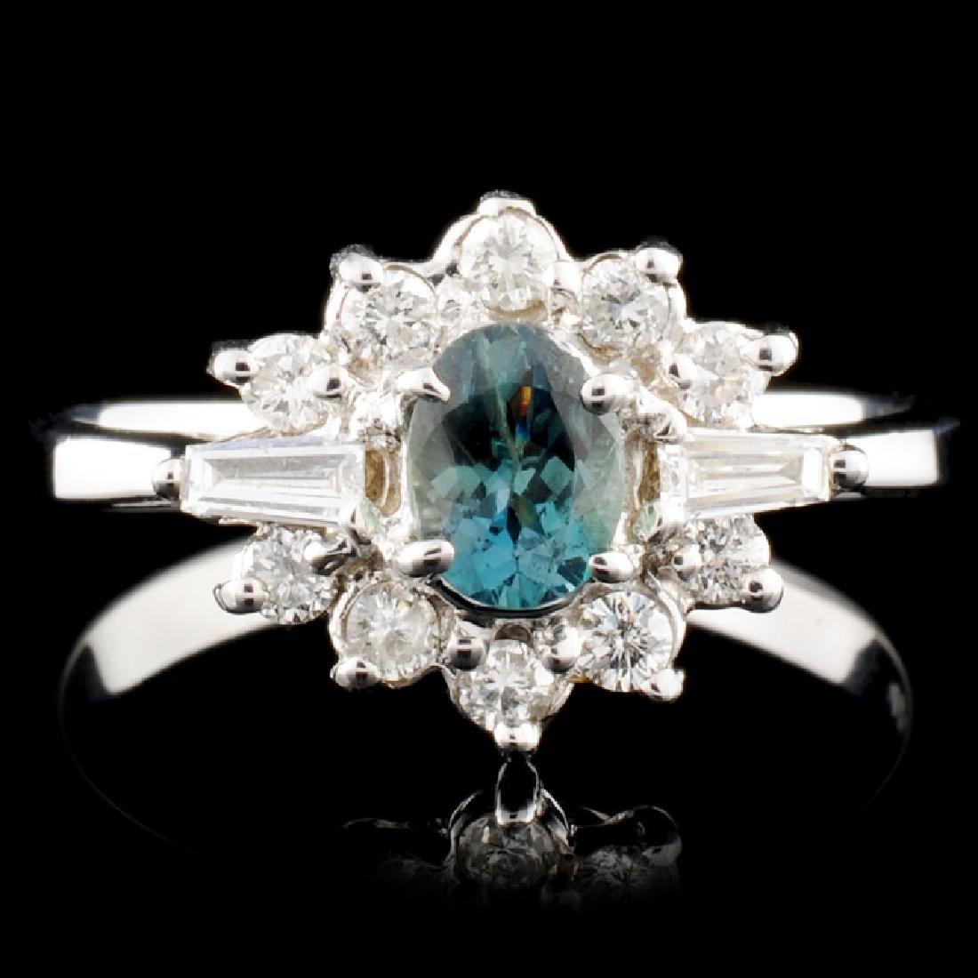 14K Gold 0.38ct Alexandrite & 0.32ctw Diamond Ring