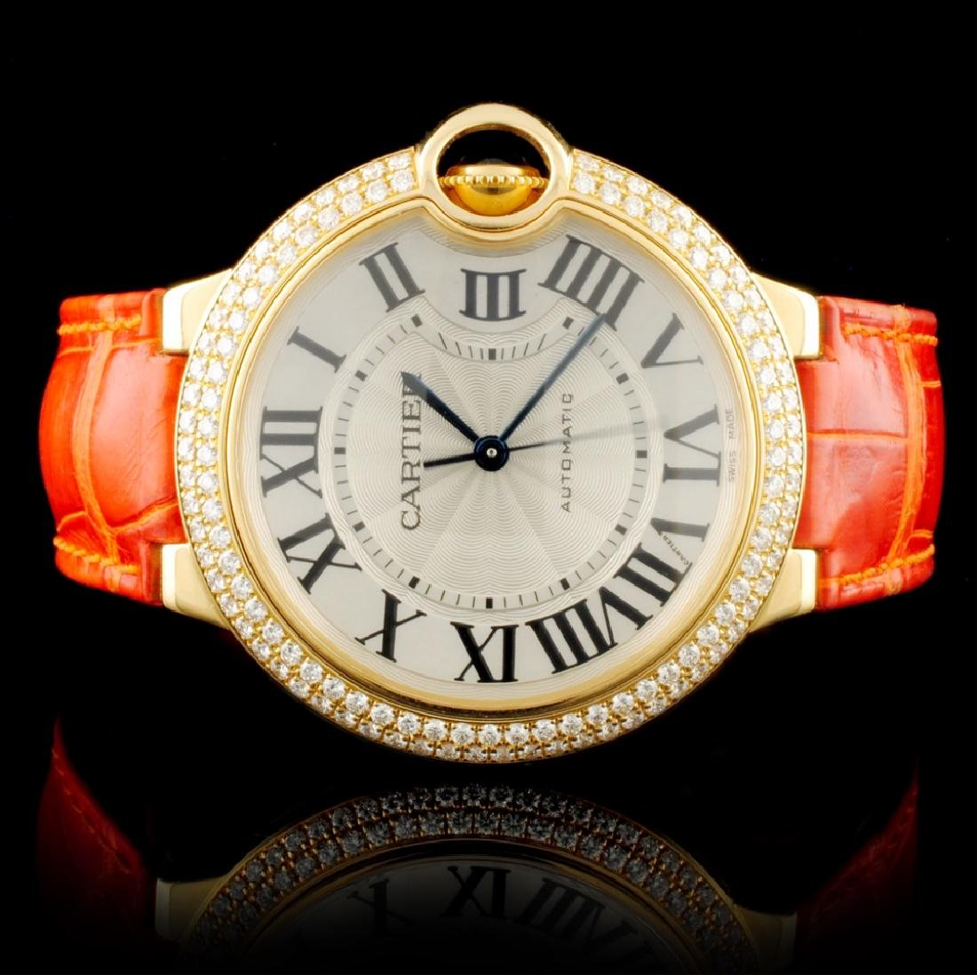 Cartier Ballon Bleu 18K YG Diamond 36MM Watch