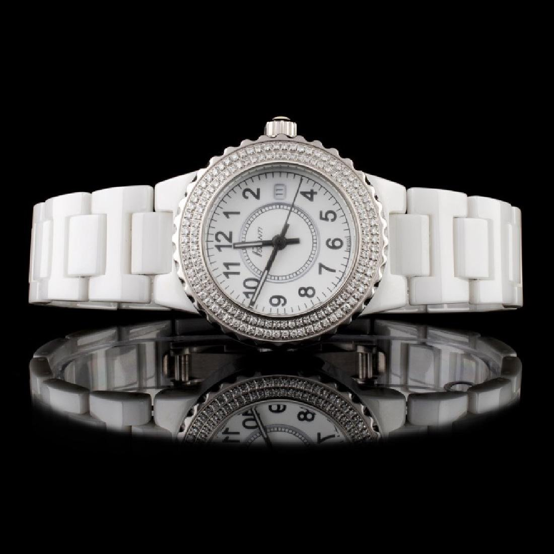 Polanti Ceramic Diamond Wristwatch