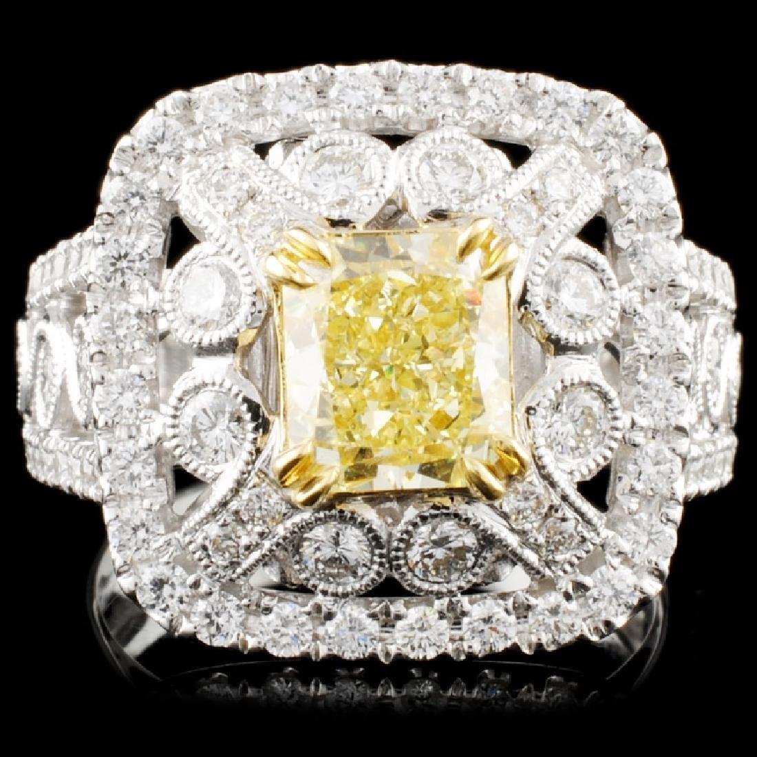 18K Gold 2.99ctw Fancy Color Diamond Ring