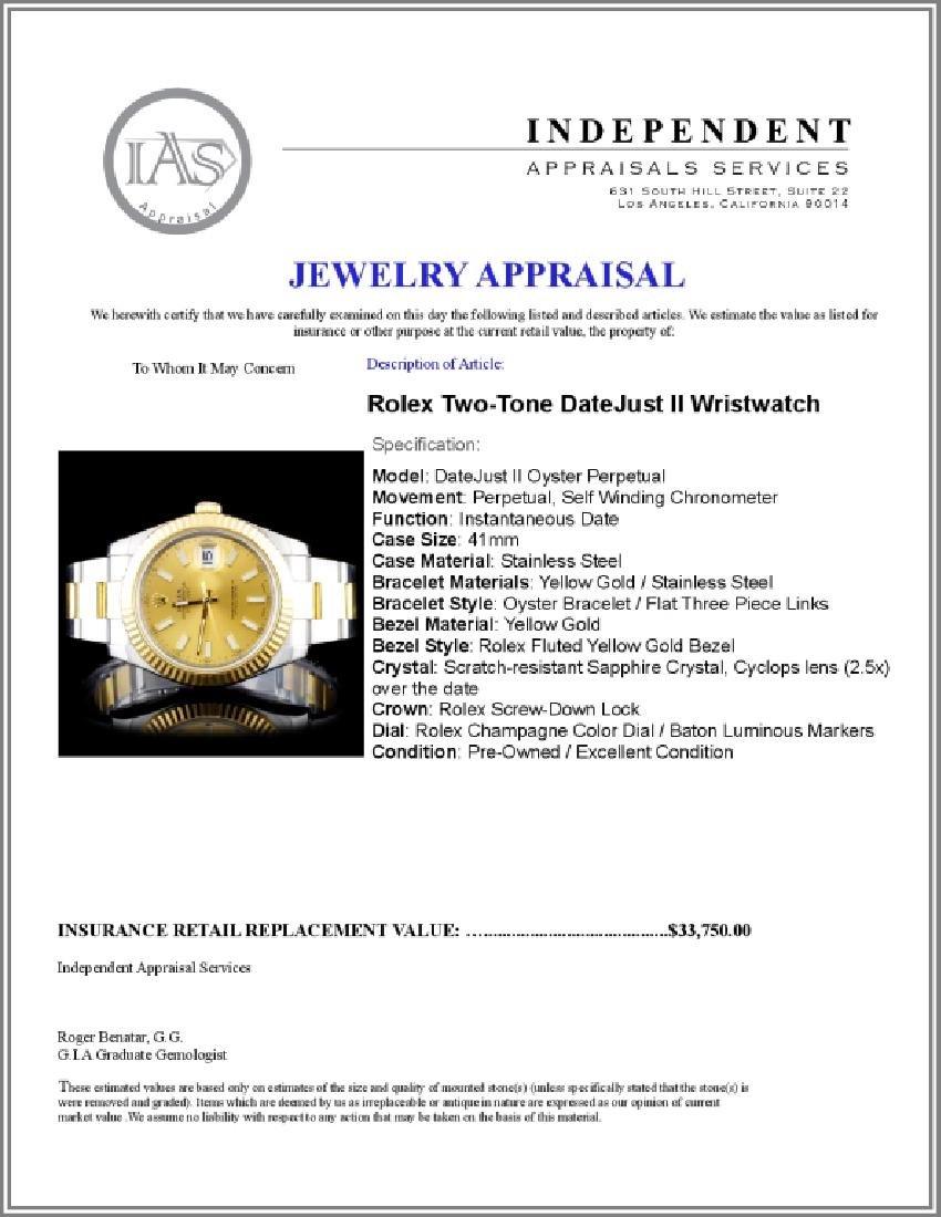 Rolex Two-Tone 41MM DateJust II Wristwatch - 5