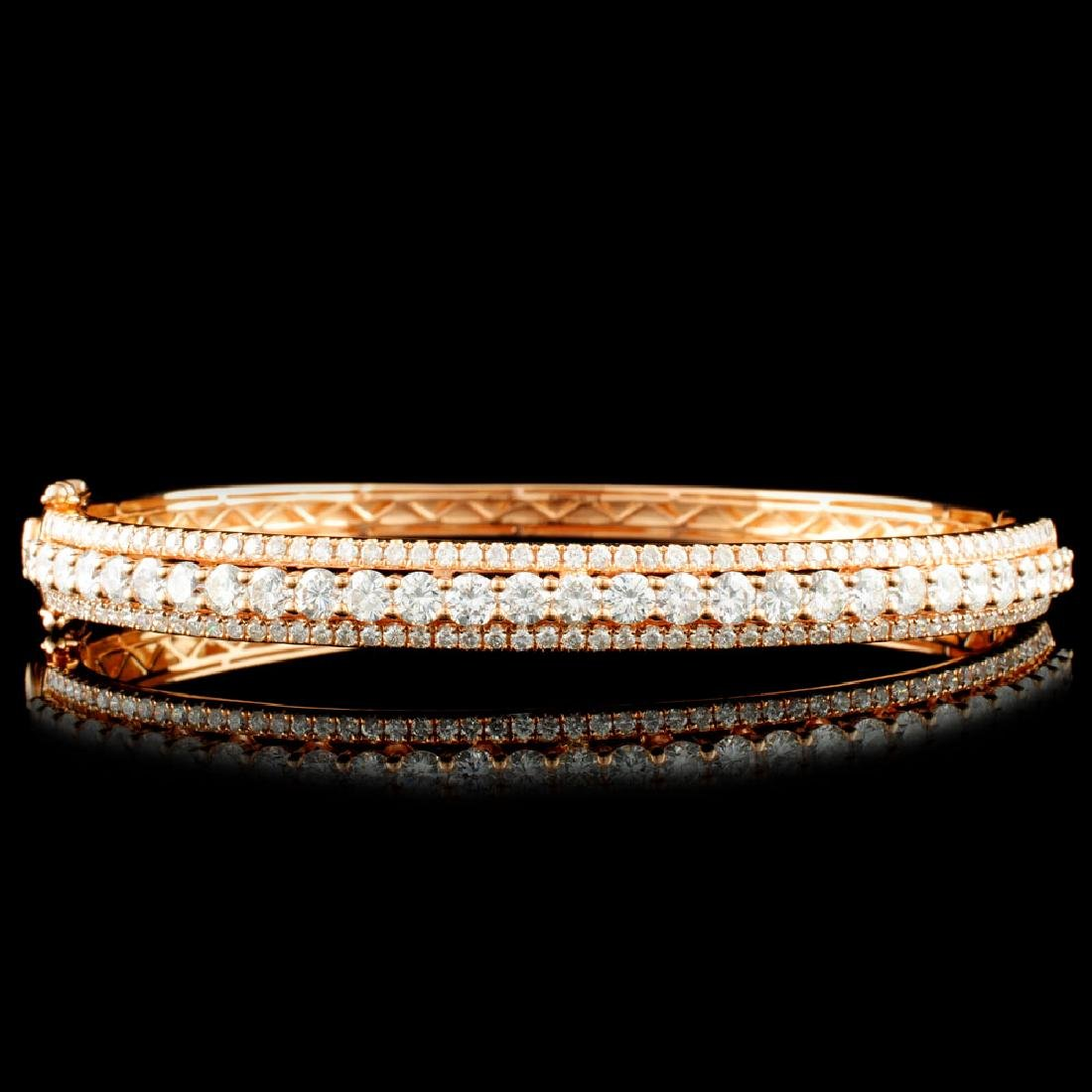 18K Gold 5.13ctw Diamond Bangle