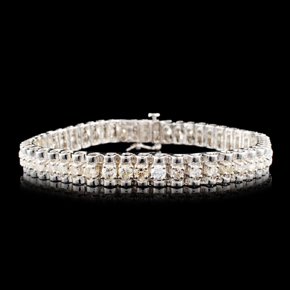 14K Gold 3.31ctw Diamond Bracelet
