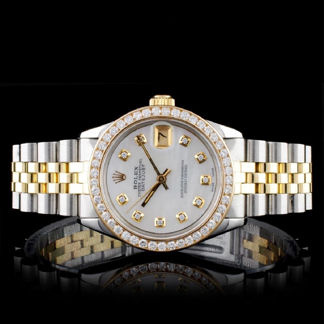 Rolex YG/SS DateJust Diamond Mid-Size 31MM Watch