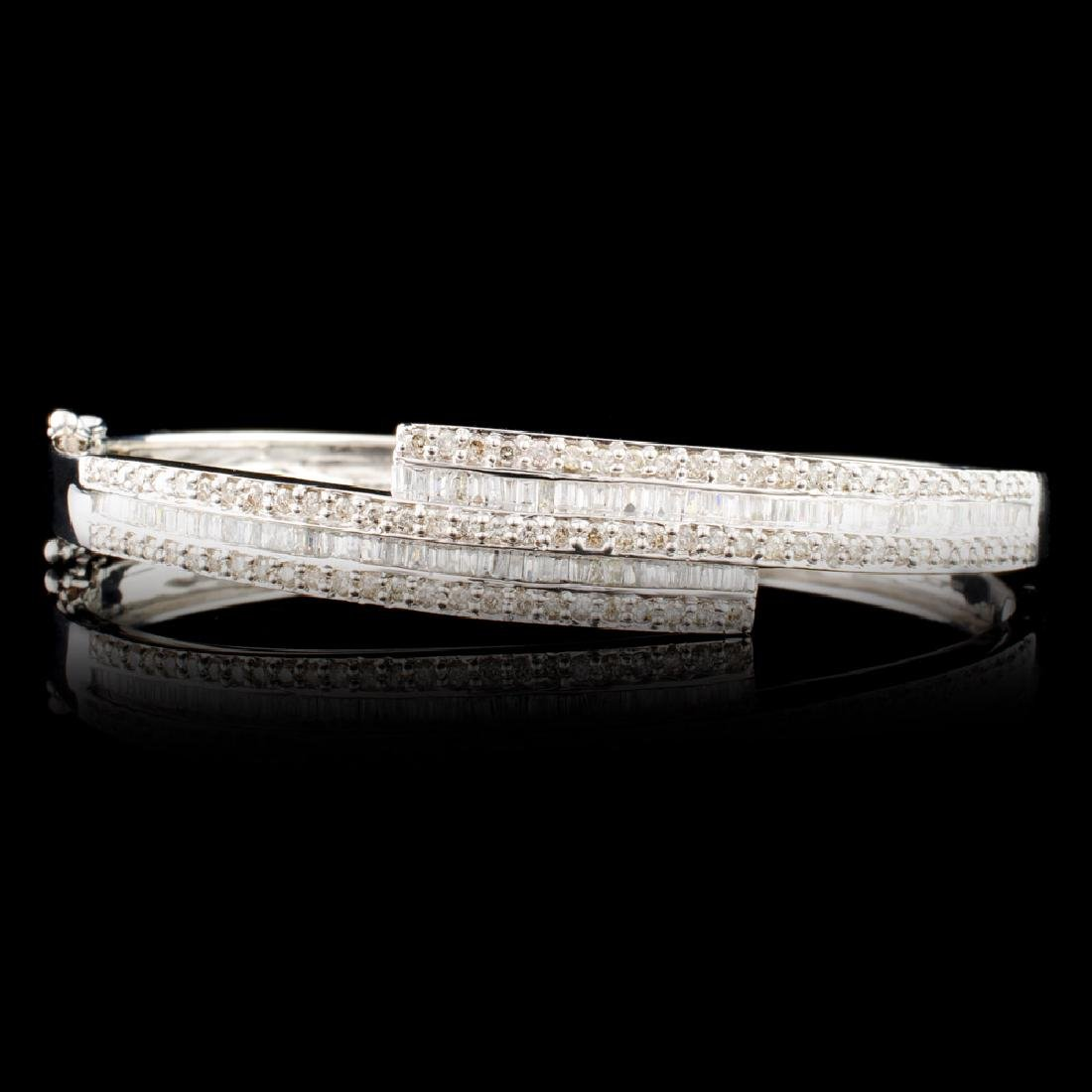 18K Gold 2.15ctw Diamond Bangle