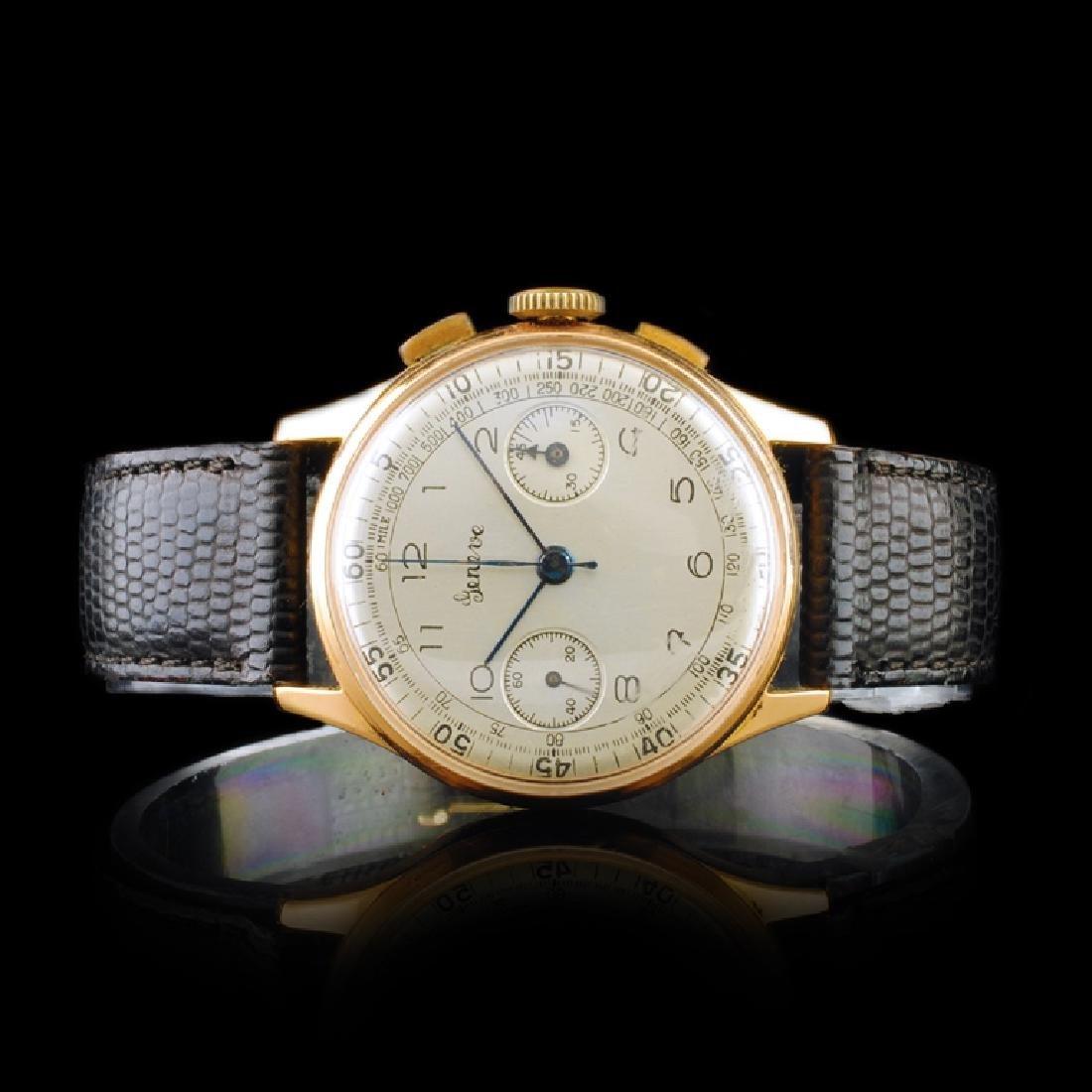 GENEVE Swiss 18K Rose Gold 17-Jewel 36mm Chrono