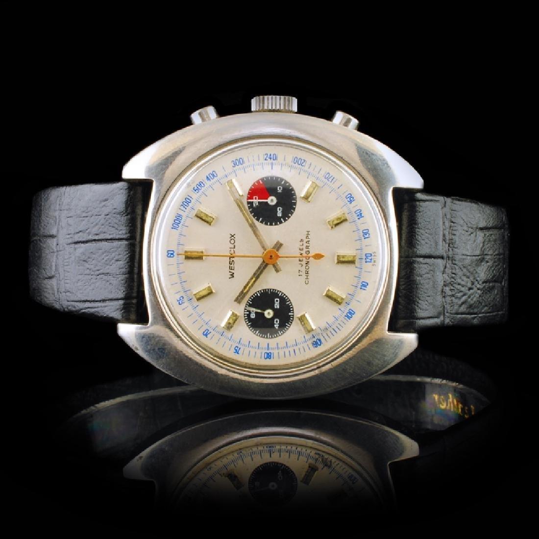 WESTCLOX Stainless Steel 40mm Chrono Wristwatch