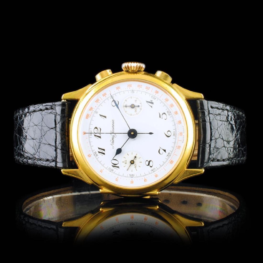 Numa-Jeannin Swiss 36mm Chrono/Pocket Watch