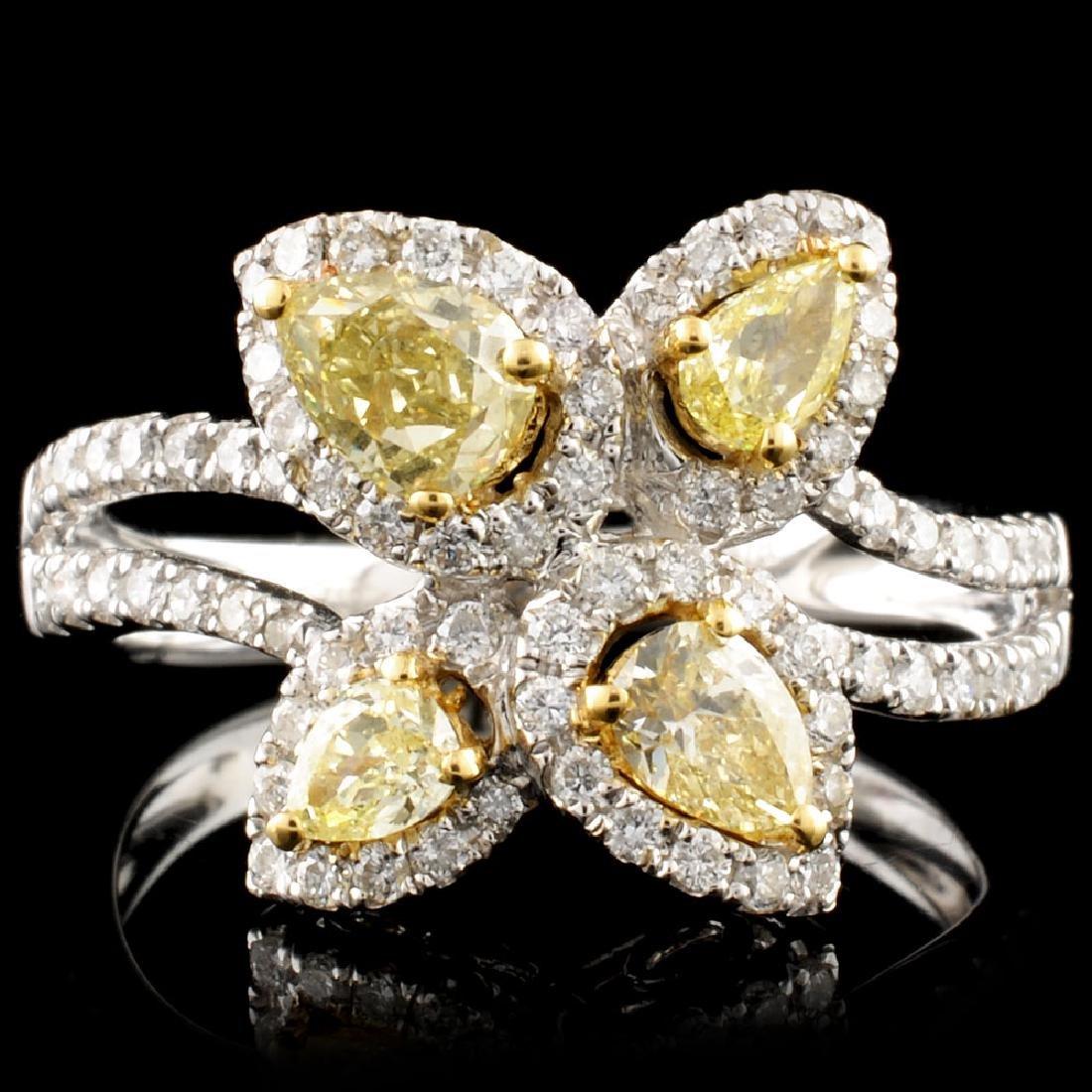 18K Gold 1.22ctw Fancy Diamond Ring