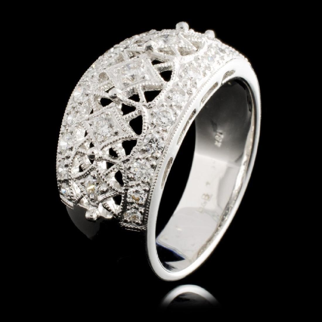 18K Gold 0.67ctw Diamond Ring