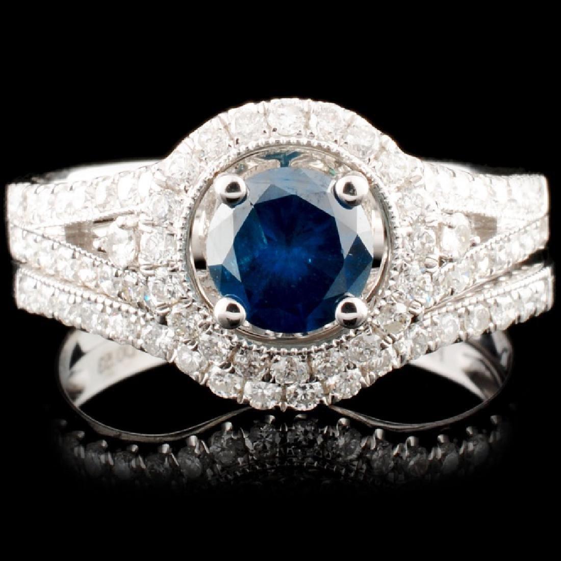 18K Gold  1.35ct Fancy Color Diamond Ring