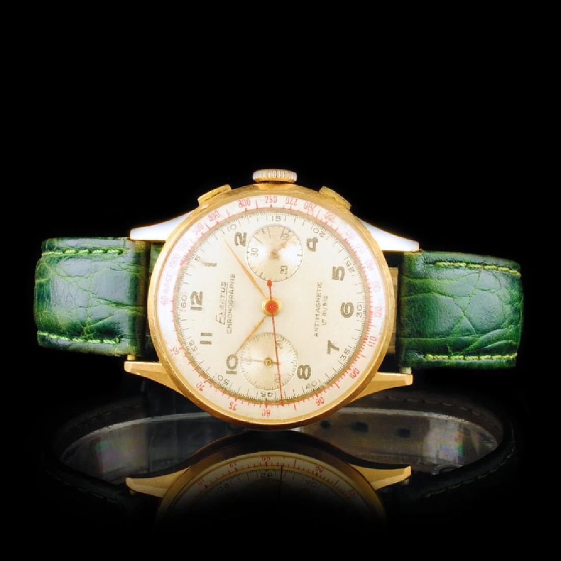 Exactus Chronographe 18K Gold 35mm Wristwatch