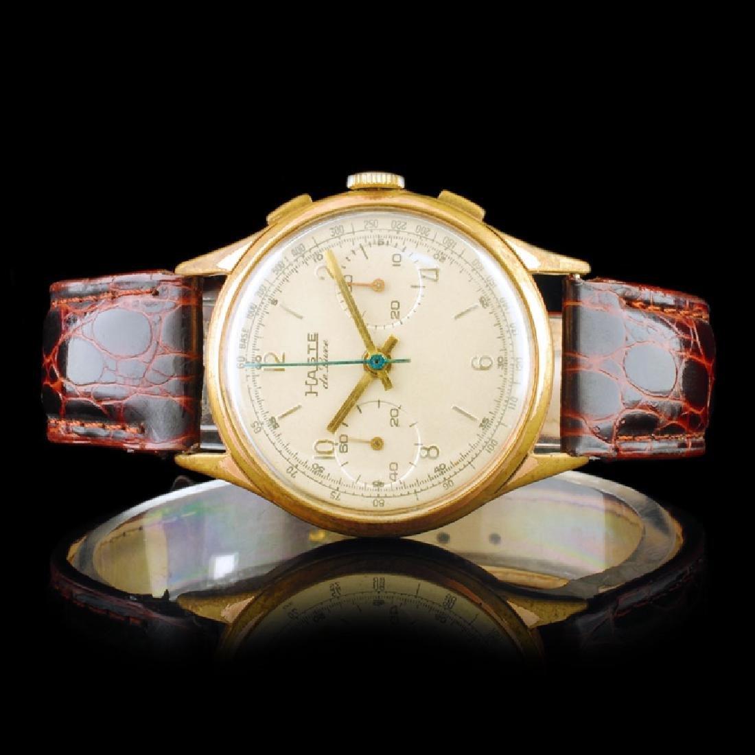 "HASTE ""de Luxe"" Swiss 36mm Chronograph Wristwatc"