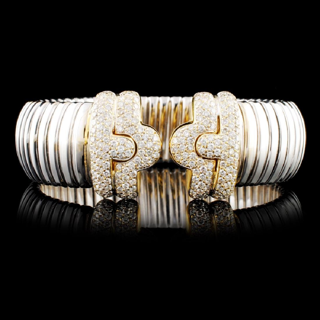 18K Gold 2.42ctw Diamond Bangle