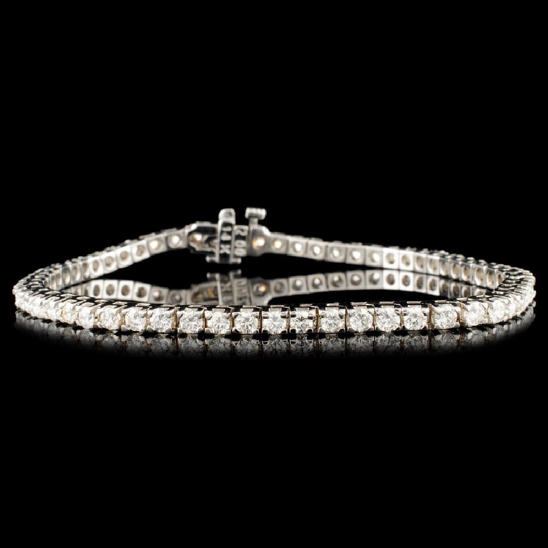 14K Gold 4.18ctw Diamond Bracelet