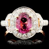 18K Gold 150ct Spinel 063ctw Diamond Ring