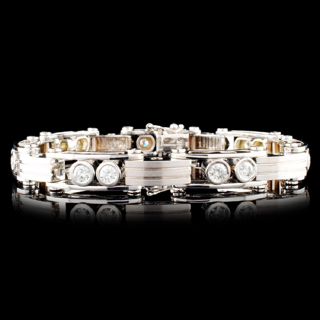 14K Gold 3.73ctw Diamond Bracelet