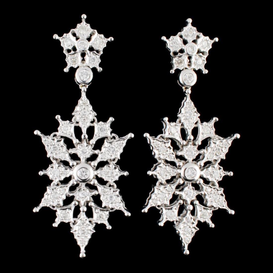 14K Gold 1.06ctw Diamond Earrings