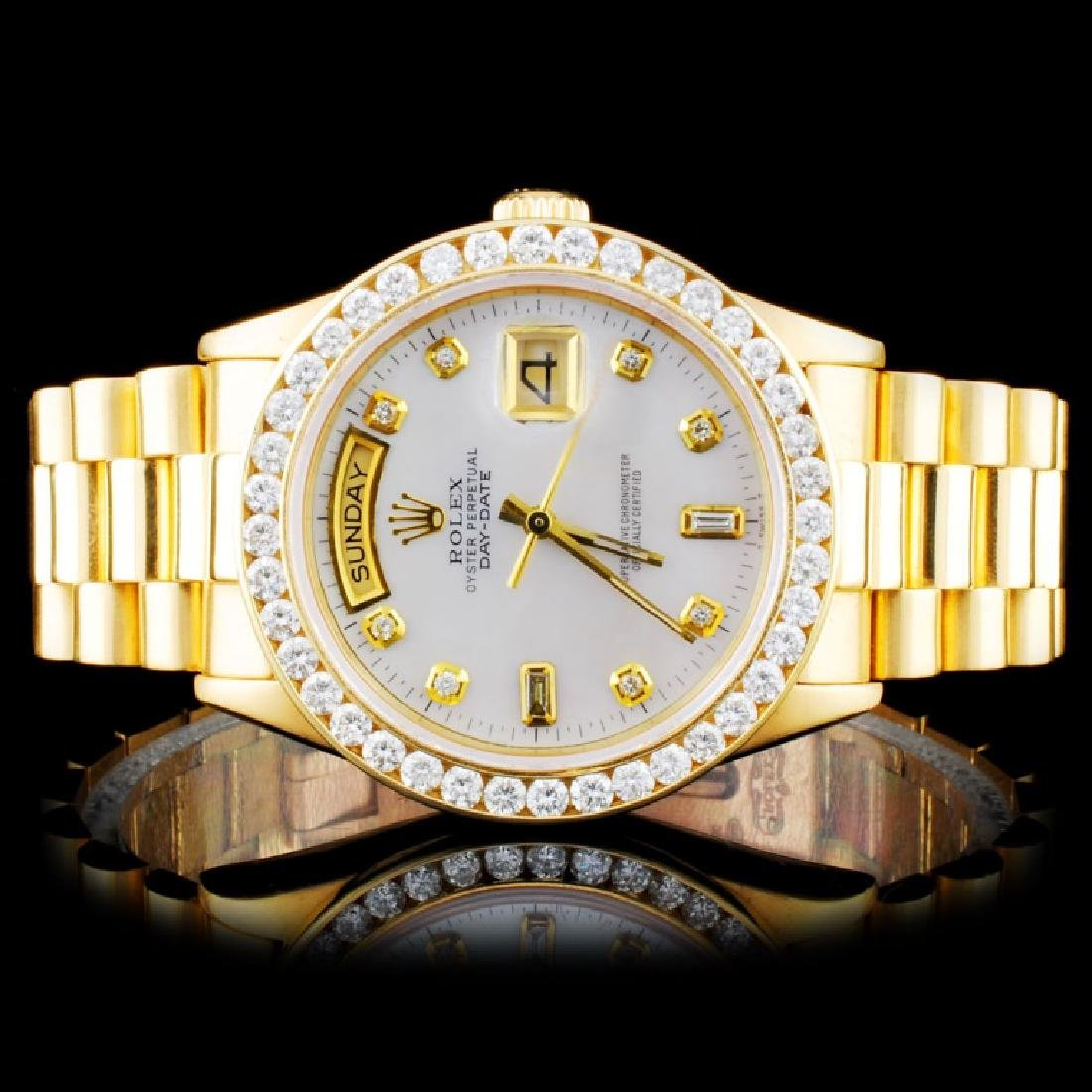 Rolex 18K YG Presidential Diamond Wristwatc