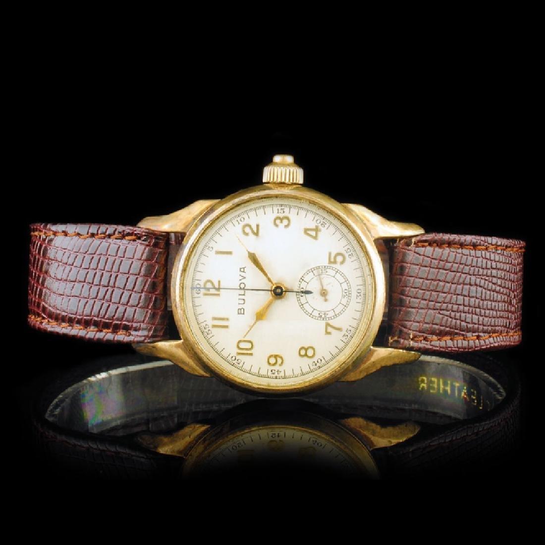 BULOVA 18K Gold Chrono 31mm Wristwatch
