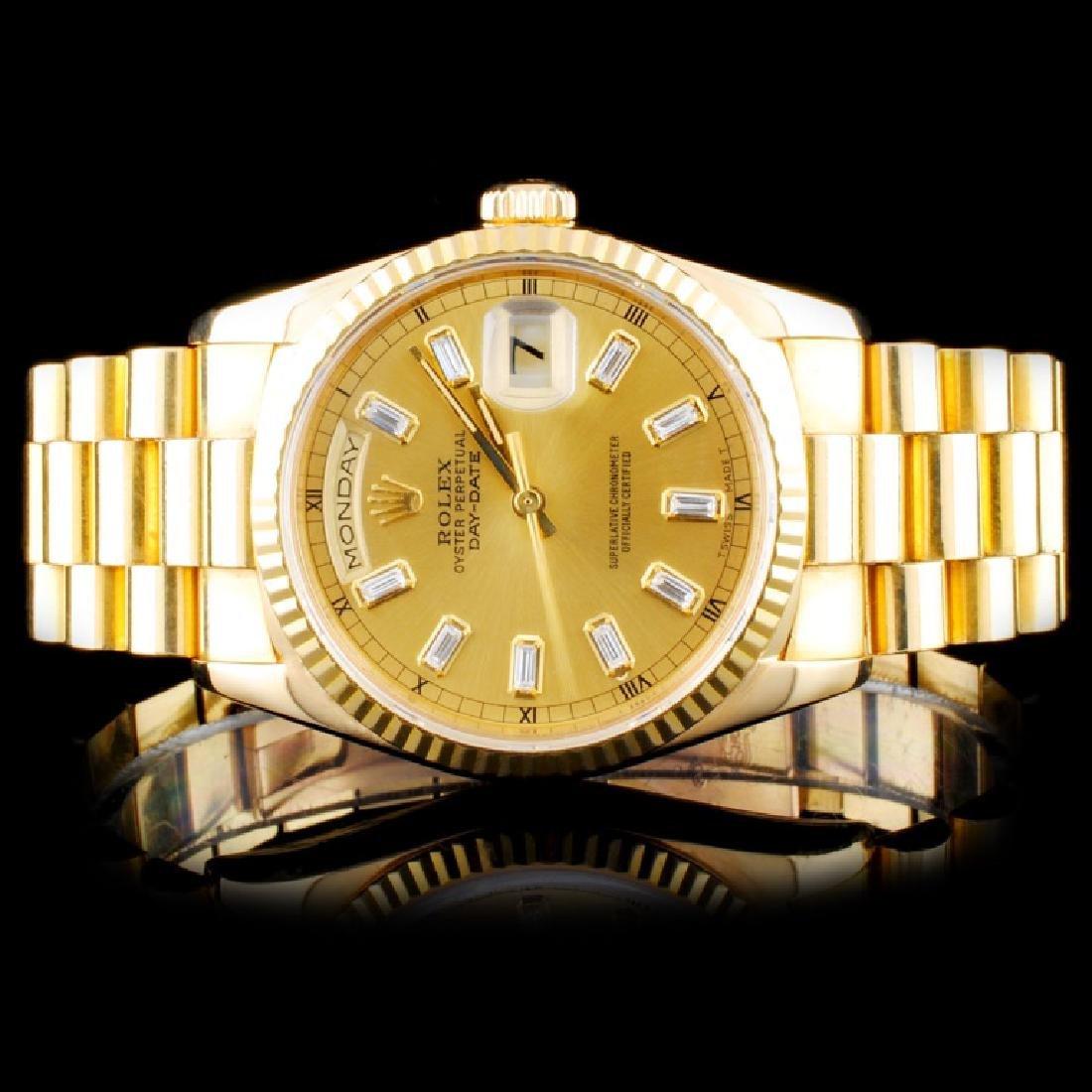 Rolex 18K YG Day-Date Presidential Wristwatch