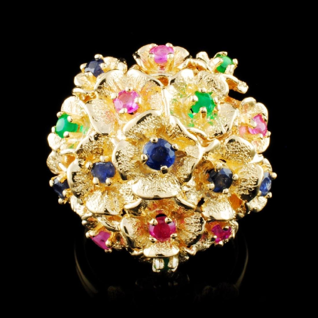 18K Gold 1.72ctw Color Gemstone Ring