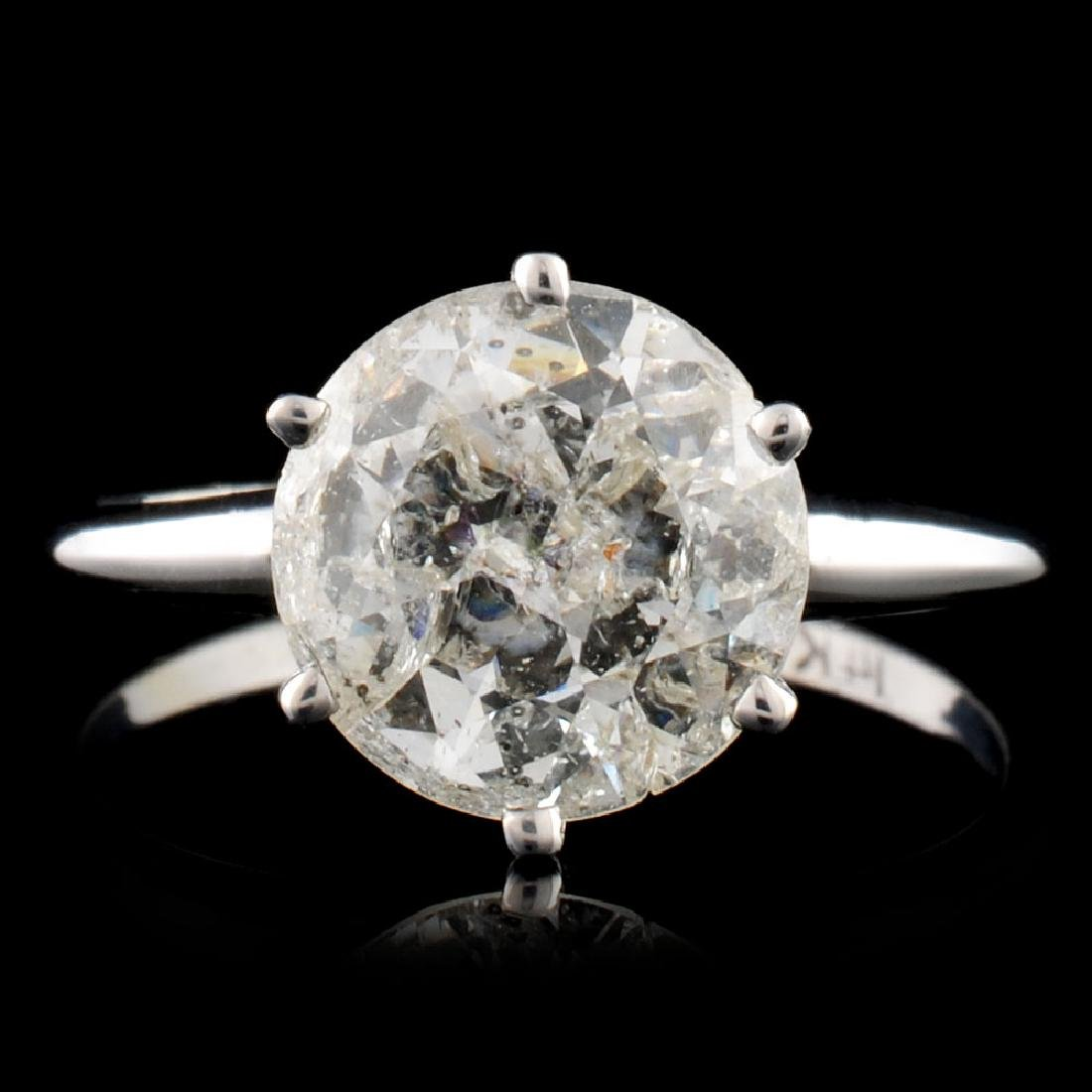 14K Gold 2.21ct Solitaire Diamond Ring