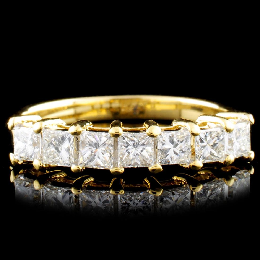 18K Gold 0.81ctw Diamond Ring