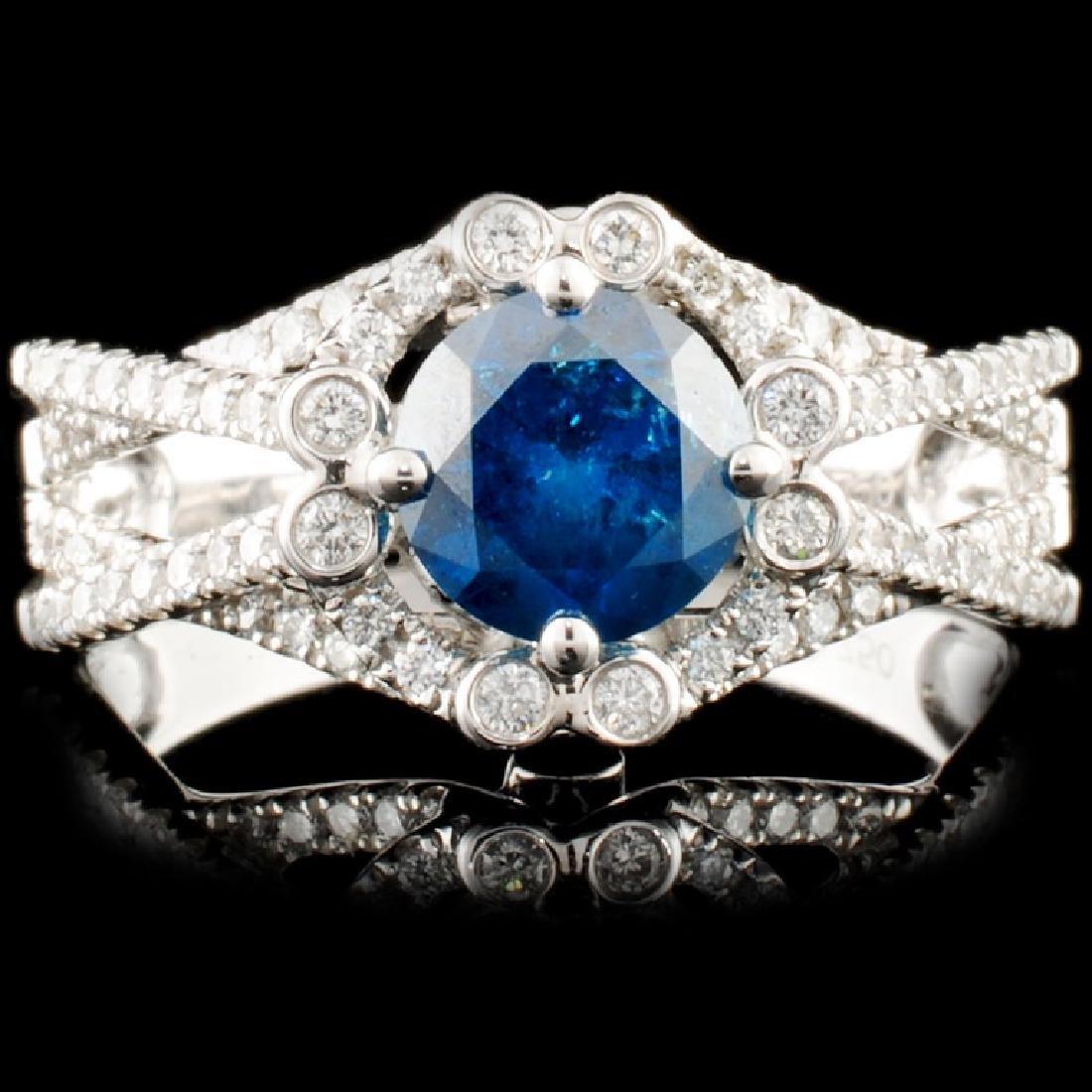 18K Gold 1.63ctw Fancy Color Diamond Ring