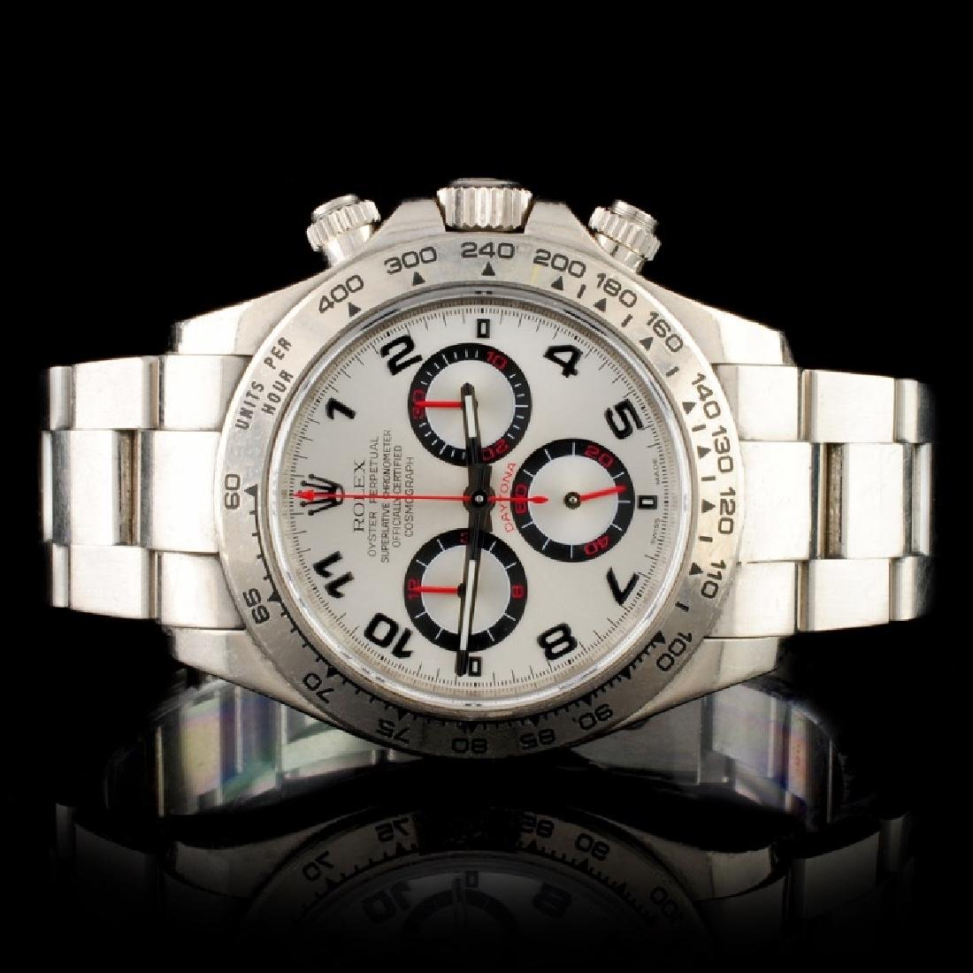 Rolex Daytona 18K White Gold Wristwatch