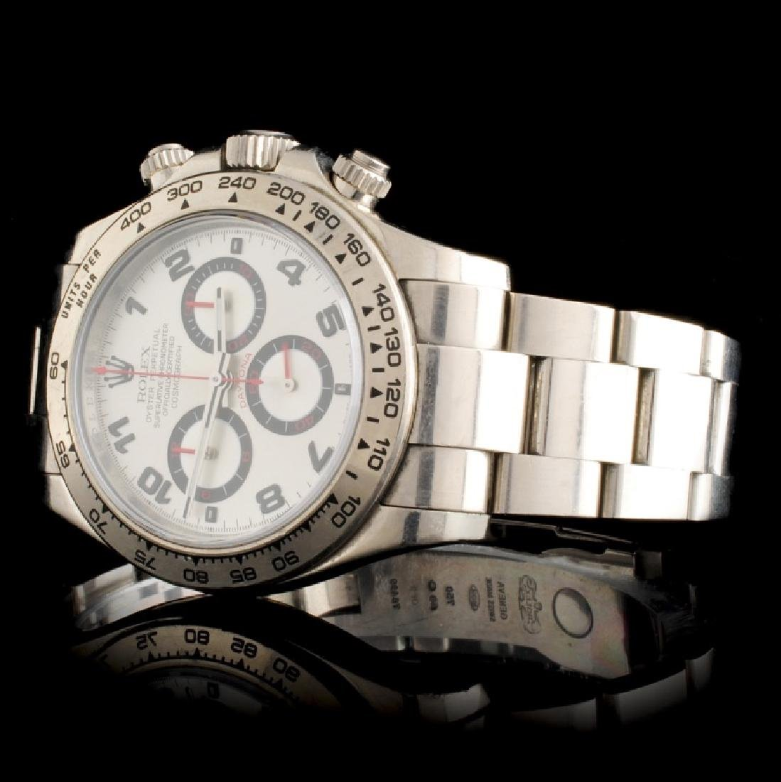 Rolex Daytona 18K White Gold Wristwatch - 2