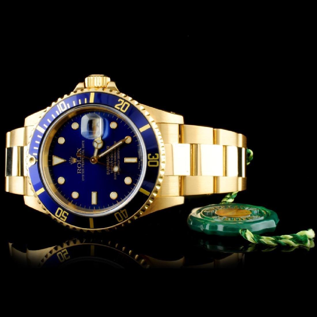 Rolex Submariner 16618 18K Gold 40mm Wristwatch - 3