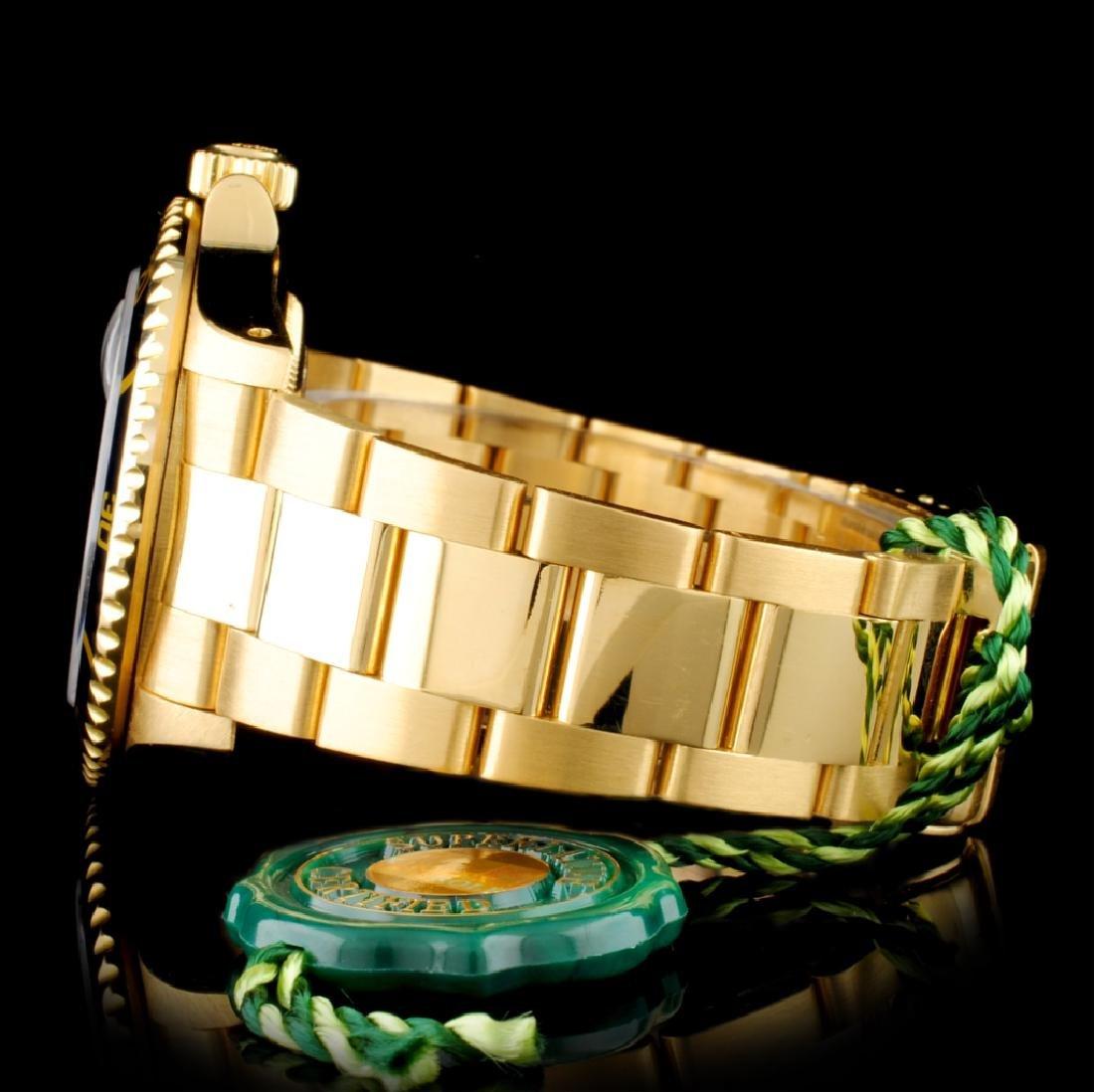 Rolex Submariner 16618 18K Gold 40mm Wristwatch - 4