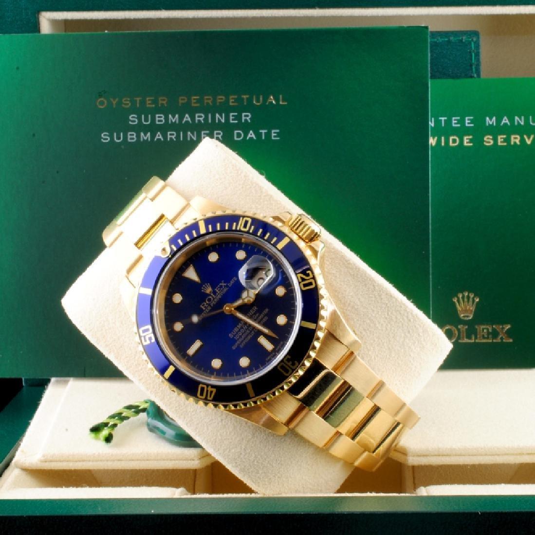 Rolex Submariner 16618 18K Gold 40mm Wristwatch - 6