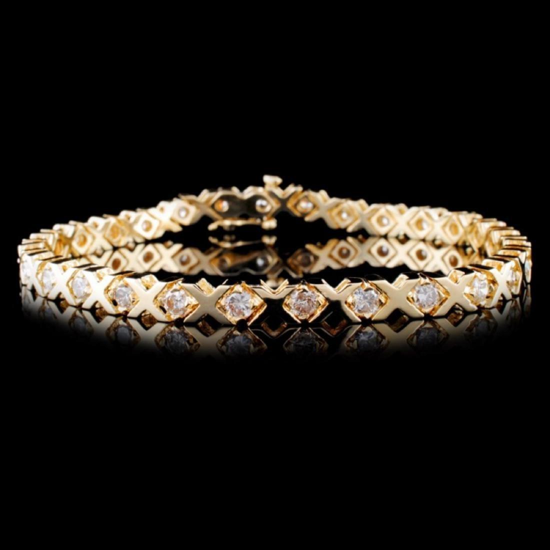 14K Yellow Gold 3.00ctw Diamond Bracelet
