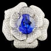 18K Gold 935ct Tanzanite 552ctw Diamond Ring